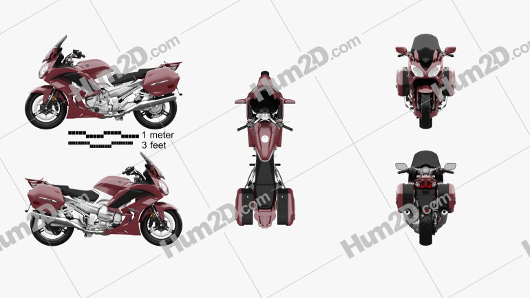 Yamaha FJR1300 ES 2013 Clipart Image