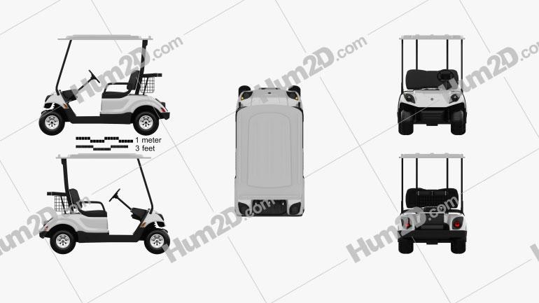Yamaha Golf Car Fleet 2012 clipart