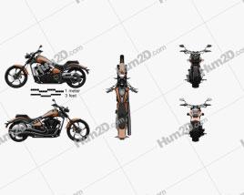 Yamaha Raider SCL 2013 Motorcycle clipart