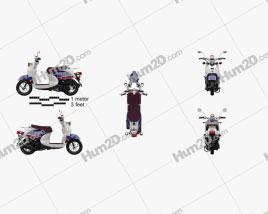 Yamaha Vino Classic 2013 Motorcycle clipart