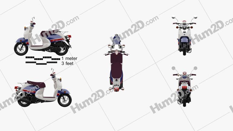 Yamaha Vino Classic 2013 Clipart Image