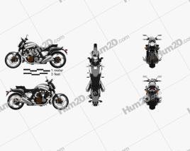 Yamaha VMax 2009 Motorcycle clipart