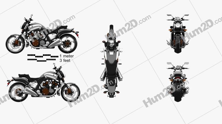 Yamaha VMax 2009 Clipart