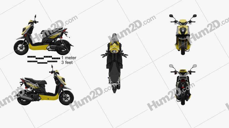 Yamaha Zuma 50 FX 2013 Motorcycle clipart