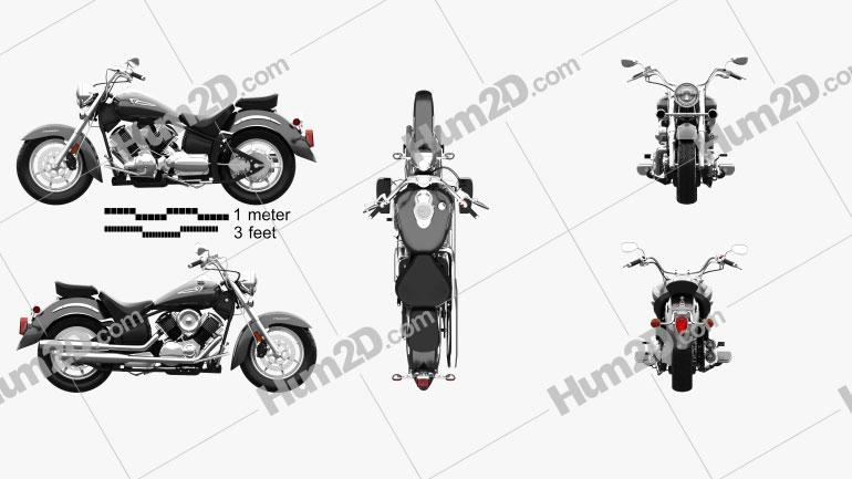 Yamaha V Star 1100 Classic 2000 Motorcycle clipart