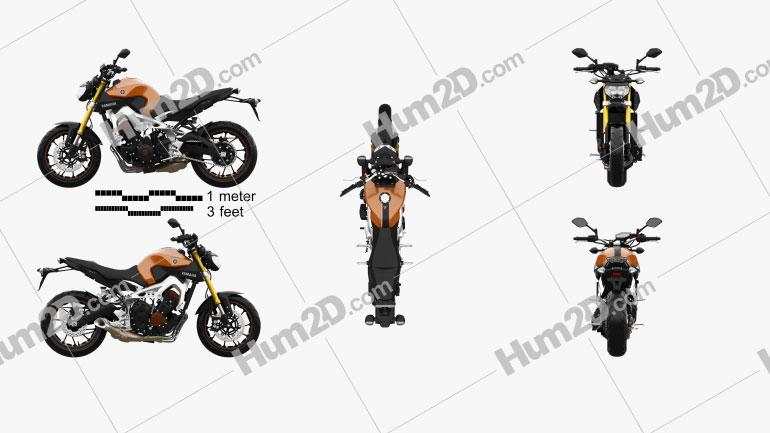 Yamaha MT-09 2014 Clipart