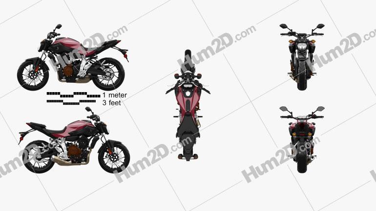 Yamaha MT-07 2015 Motorcycle clipart