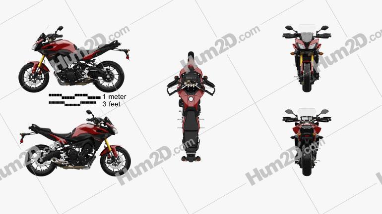 Yamaha FJ-09 Tracer 2015 Motorcycle clipart