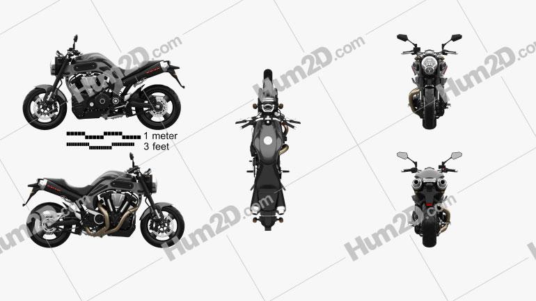 Yamaha MT-01 2009 Moto clipart