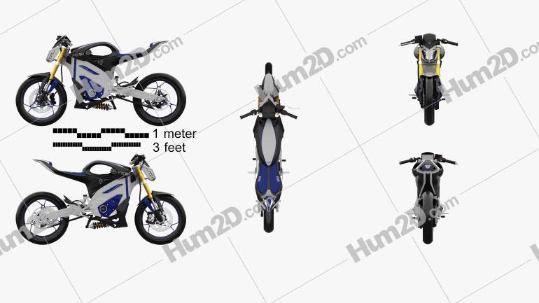 Yamaha PES-1 2013 Motorcycle clipart