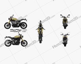 Yamaha XSR900 2016 Clipart