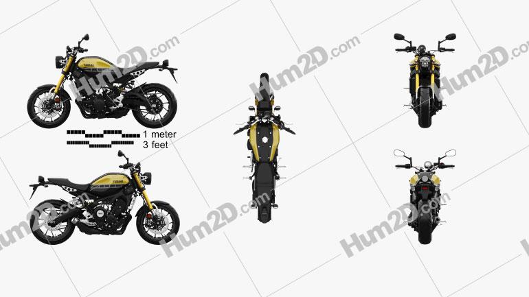 Yamaha XSR900 2016 Motorcycle clipart