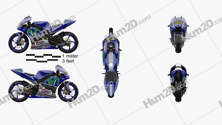 Yamaha YZR-M1 MotoGP 2015 Motorcycle clipart