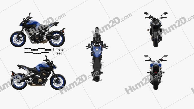 Yamaha MT-09 2017 Clipart Image