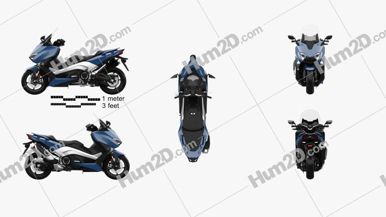 Yamaha TMAX 2017 Motorcycle clipart