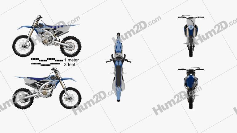 Yamaha YZ250F 2017 Motorcycle clipart