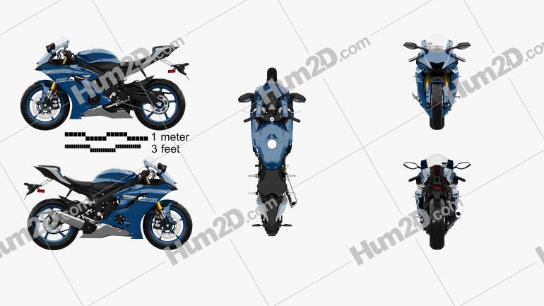 Yamaha R6 2017 Motorcycle clipart