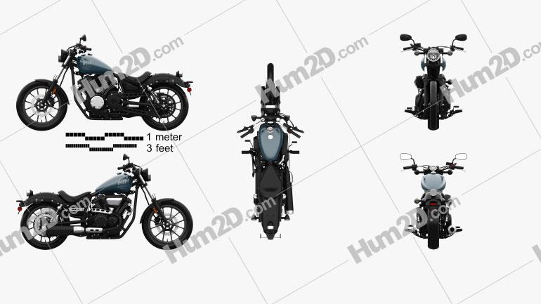 Yamaha Bolt 2016 Motorcycle clipart