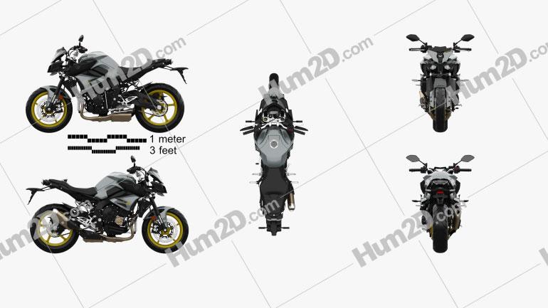 Yamaha MT-10 2016 Motorcycle clipart