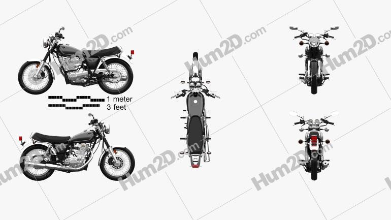 Yamaha SR400 2015 Clipart