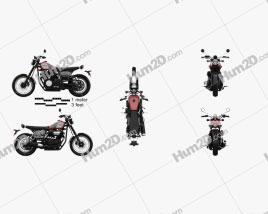 Yamaha SCR 950 2017 Motorcycle clipart