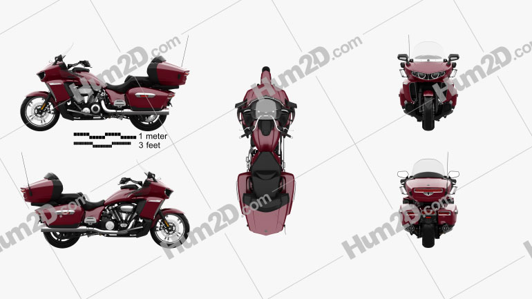 Yamaha Star Venture 2018 Motorcycle clipart