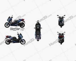 Yamaha X-MAX 300 2018 Clipart