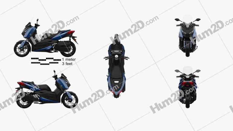 Yamaha X-MAX 300 2018 Motorcycle clipart