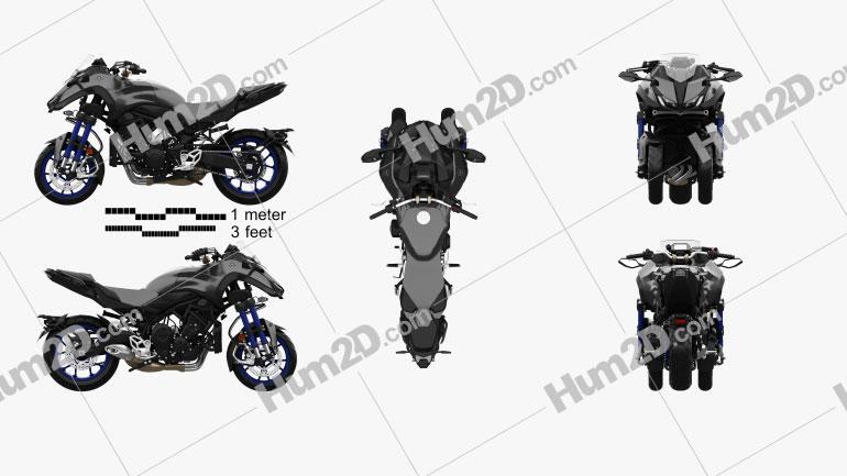 Yamaha Niken 2018 Motorcycle clipart