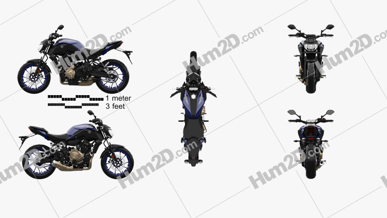 Yamaha MT-07 2018 Motorcycle clipart