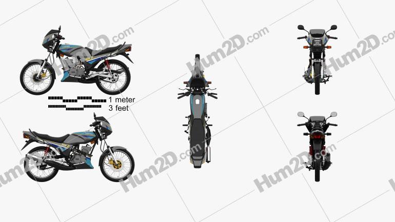 Yamaha RXZ-135 1997 Motorcycle clipart