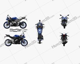 Yamaha YZF-R125 2019 Clipart
