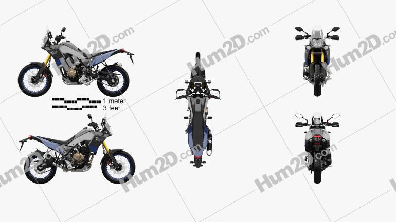 Yamaha Tenere 700 2021 Clipart