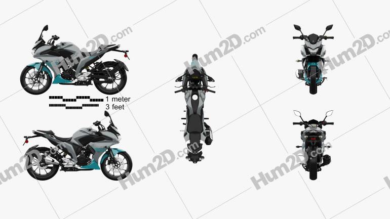 Yamaha Fazer 25 2018 Motorcycle clipart