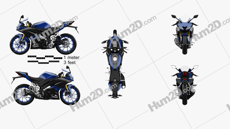 Yamaha R15 2020 Motorcycle clipart