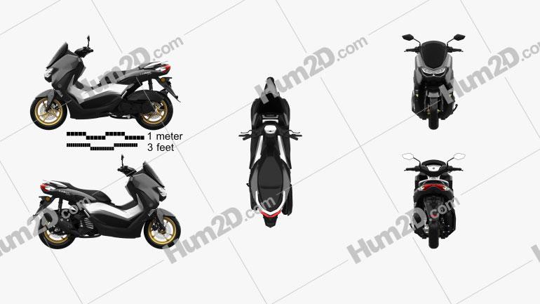 Yamaha NMAX 155 2020 Motorcycle clipart