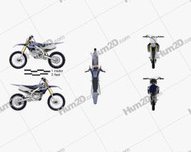 Yamaha YZ250F 2020 Clipart