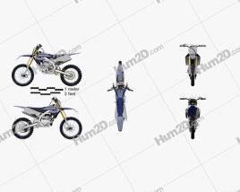Yamaha YZ450F 2020 Motorcycle clipart