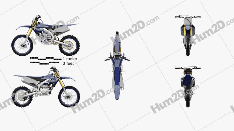 Yamaha YZ450F 2020 Clipart Image