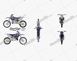 Yamaha YZ250 2008 Clipart