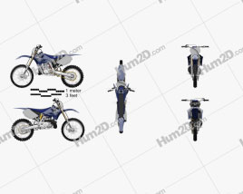 Yamaha YZ250 2008 Motorcycle clipart