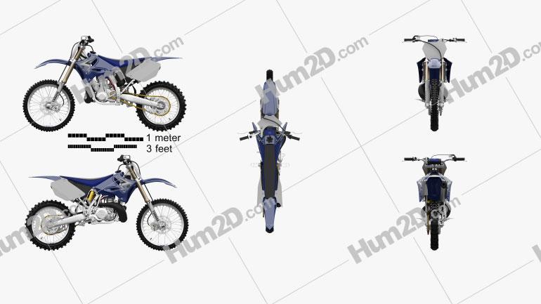 Yamaha YZ250 2008 Clipart Image