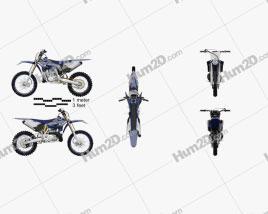 Yamaha YZ250 2020 Motorcycle clipart