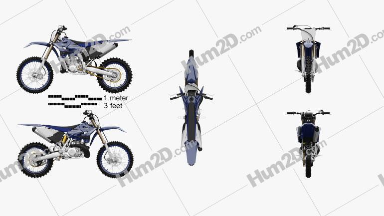 Yamaha YZ250 2020 Clipart Image