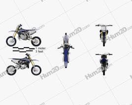 Yamaha YZ65 2019 Motorcycle clipart