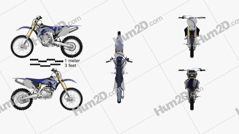 Yamaha YZ450F 2007 Clipart Image