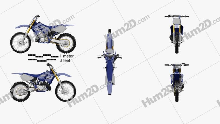 Yamaha YZ250 1998 Motorcycle clipart