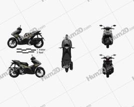 Yamaha Aerox 155 2021 Motorcycle clipart