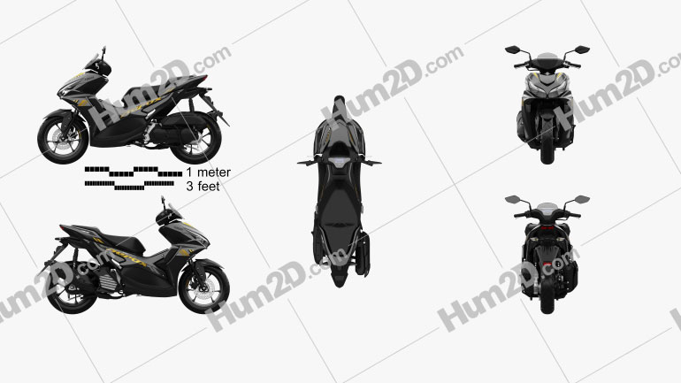 Yamaha Aerox 155 2021 Clipart Image