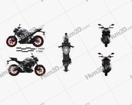 Yamaha MT-03 2021 Motorcycle clipart